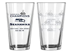 Super Bowl Champs Pint Glass 2-Pack