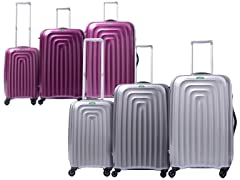 Wave 3-Pc Luggage Set 6-Colors