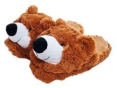Cuddlee Slippers - Teddy Bear
