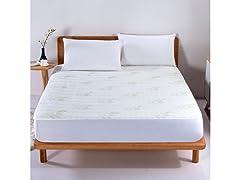 Aloe Vera Bamboo Hypoallergenic Mattress Pad