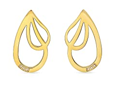 18kt Gold Plated Drop Accent Earrings