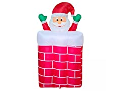 6' Santa Rising Chimney Inflatable