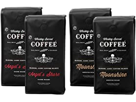 4 Pack Whiskey Barrel Whole Bean Coffee