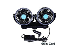 Dual Head Back Seat Car Fan