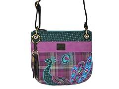 Boho Peacock Crossbody Bag, Purple
