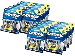 AA Alkaline Batteries - 144 Pack