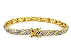 .25CTTW Genuine Diamond Accent Bracelet