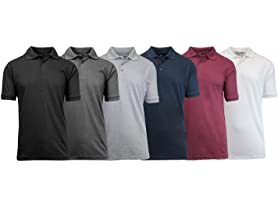 GBH Men's Pique Polos 6-Pack