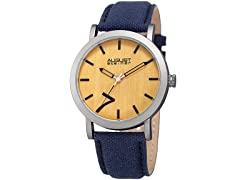 August Steiner Men's Classic Wood Dial Watch