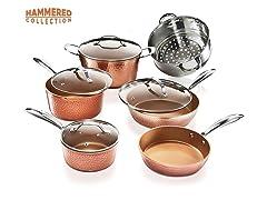 Gotham Steel Hammered 10PC Cookware Set