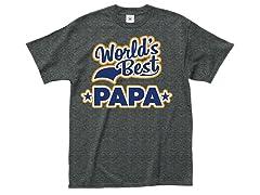 """""""World's Papa"""" 100% Cotton T-Shirt"""