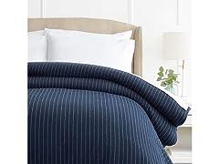 160 Gram Pinstripe Flannel Duvet Cover