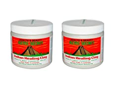 2-Pack Healing Facial Clay, 1 lb Jar