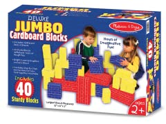 40 Piece Jumbo Cardboard Blocks