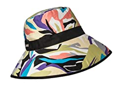 Miami Beach Fabric Bucket Hat, Turquoise