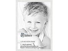 ArtToFrames 19x27 inch Satin White Frame