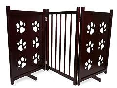 Paw Pet Gate - Mahogany