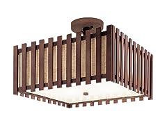4 Light Square Semi Flush-mount