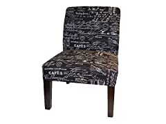 Script Chair in Black & White