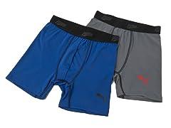 Grey / Blue Tech Boxer Brief - 2pk