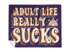 """""""Adult Life Sucks"""" Mink Fleece Blanket"""