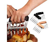 Meat-Shredding Claws with Wooden Handle