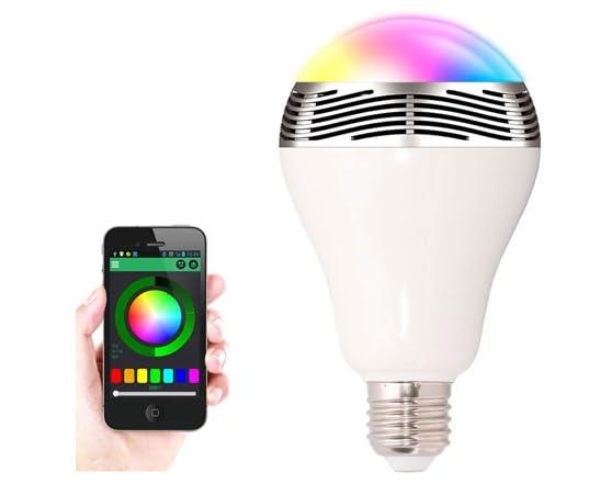 2 in 1 led light bulb bluetooth speaker for Best bluetooth light bulb speaker