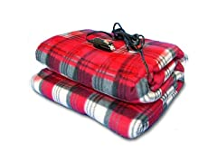 Zone Tech Plaid Fleece Heated Blanket