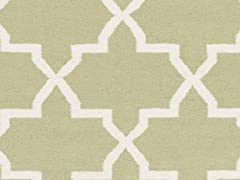 Light Green Hand Woven Rug (6-Colors)