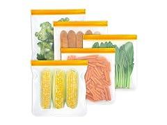 WeTest PEVA Reusable Food Bags,5-Pack…