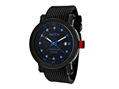 Blue/Black Dial with Black Silicone Band