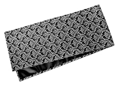 Small Damask Table Runner-Black