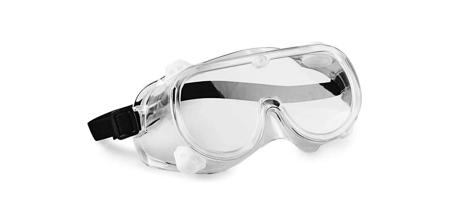 """Hand2mind 6"""" Clear Safety Goggles, Meets ANSI Z87.1 Safety Standards (Pack of 10) 