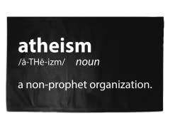 """Atheism"" 3' x 2' Rug"