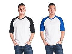 Men's 2-Pack Quarter Sleeve T's
