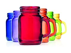 Colored Mason Jar 5oz Shooter - Set of 6