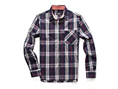 Long Sleeve Plaid Shirt with Pocket