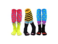 TeeHee Novelty Cotton Knee High Fun Sock