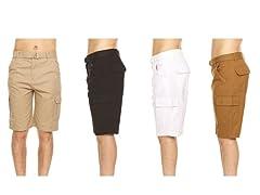 Nextex Men's Belted Cargo Pocket Shorts