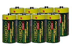 C Alkaline Batteries - 8 Pack