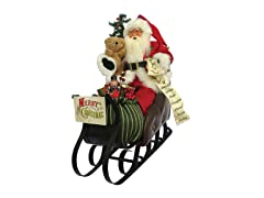 "Santa's Workshop 20"" Merry Christmas Sleigh"