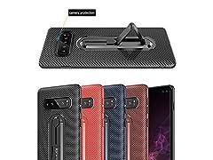 Samsung Galaxy S10 Case, Carbon Fiber Style (Black)