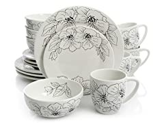 Laurie Gates for Gibson 16-PC Dinnerware Set