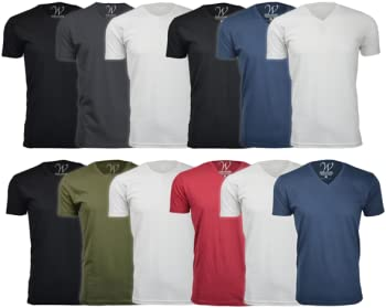 3-Pack Ethan Williams Ultra Soft Sueded Crew Neck or V-Neck T-Shirt