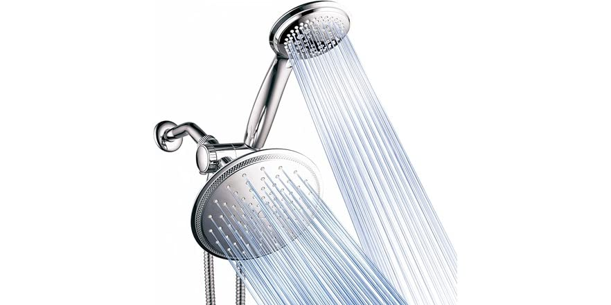 DreamSpa 8-Setting Rainfall Shower Head and Handheld Shower Combo   WOOT