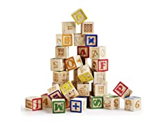 SainSmart Jr. Wooden ABC Blocks, 40pcs