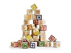 SainSmart Jr. Wooden ABC Blocks, 40pcs