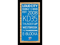 "9.5"" x 19"" NBA Subway Signs"