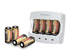 Tenergy 3.7V Arlo Battery 8-Pk & Fast Charger