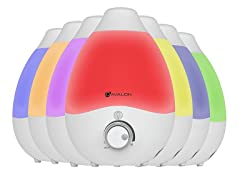 Avalon Cool Mist Humidifier with Color-Changing Lights